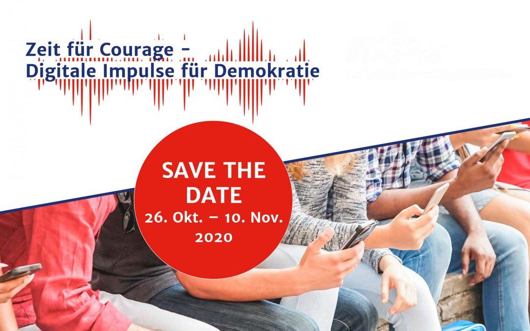 Bild Zeit für Courage - Digitale Impulse für Demokratie